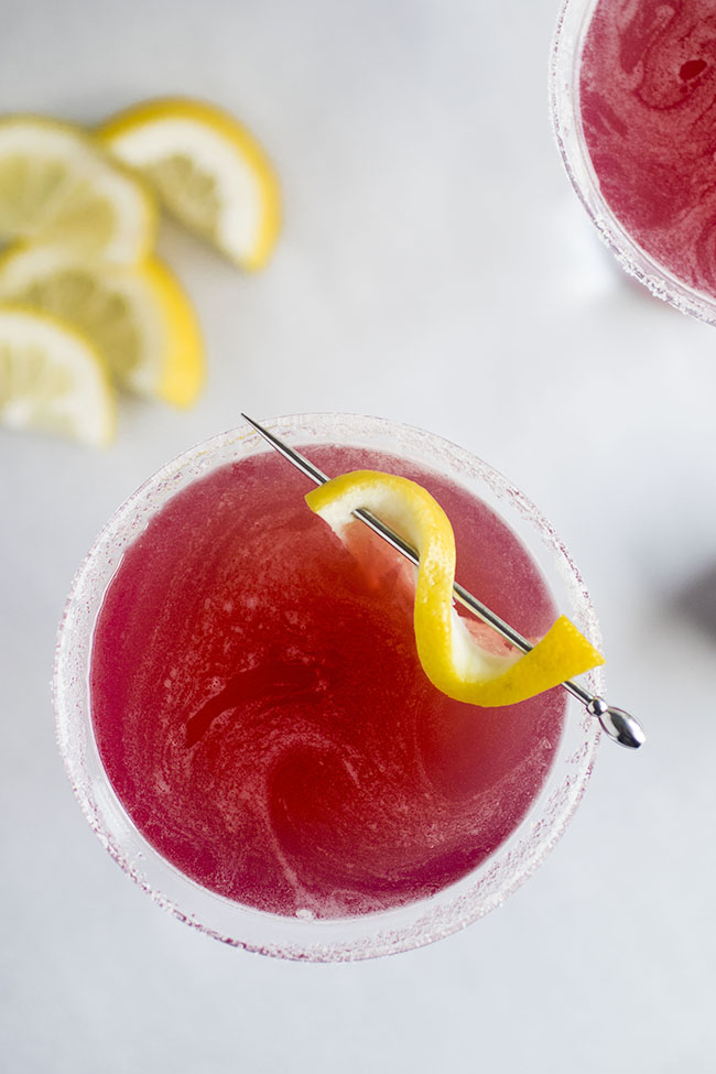 Cranberry Lemon Drop Cocktail Recipe