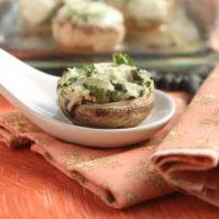 Herb and Cheese Stuffed Mushrooms