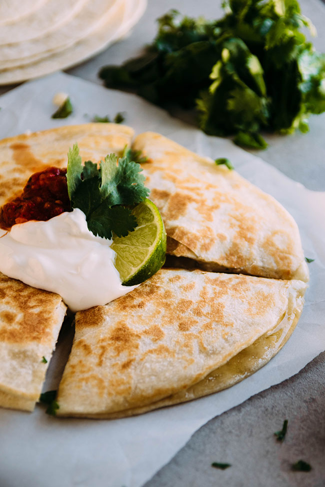 Lime and Tequila Chicken Quesadillas Recipe
