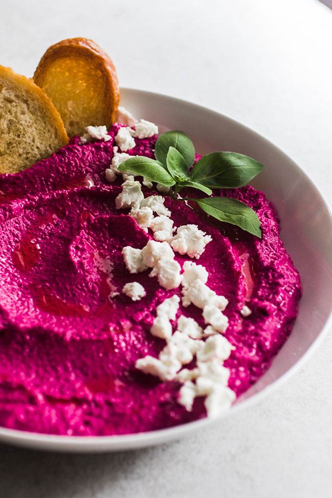 Roasted Beet Goat Cheese Dip