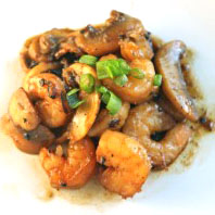 Champagne Shrimp and Mushrooms