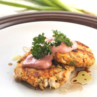 Spicy Crabcakes with Roasted Red Pepper Aioli