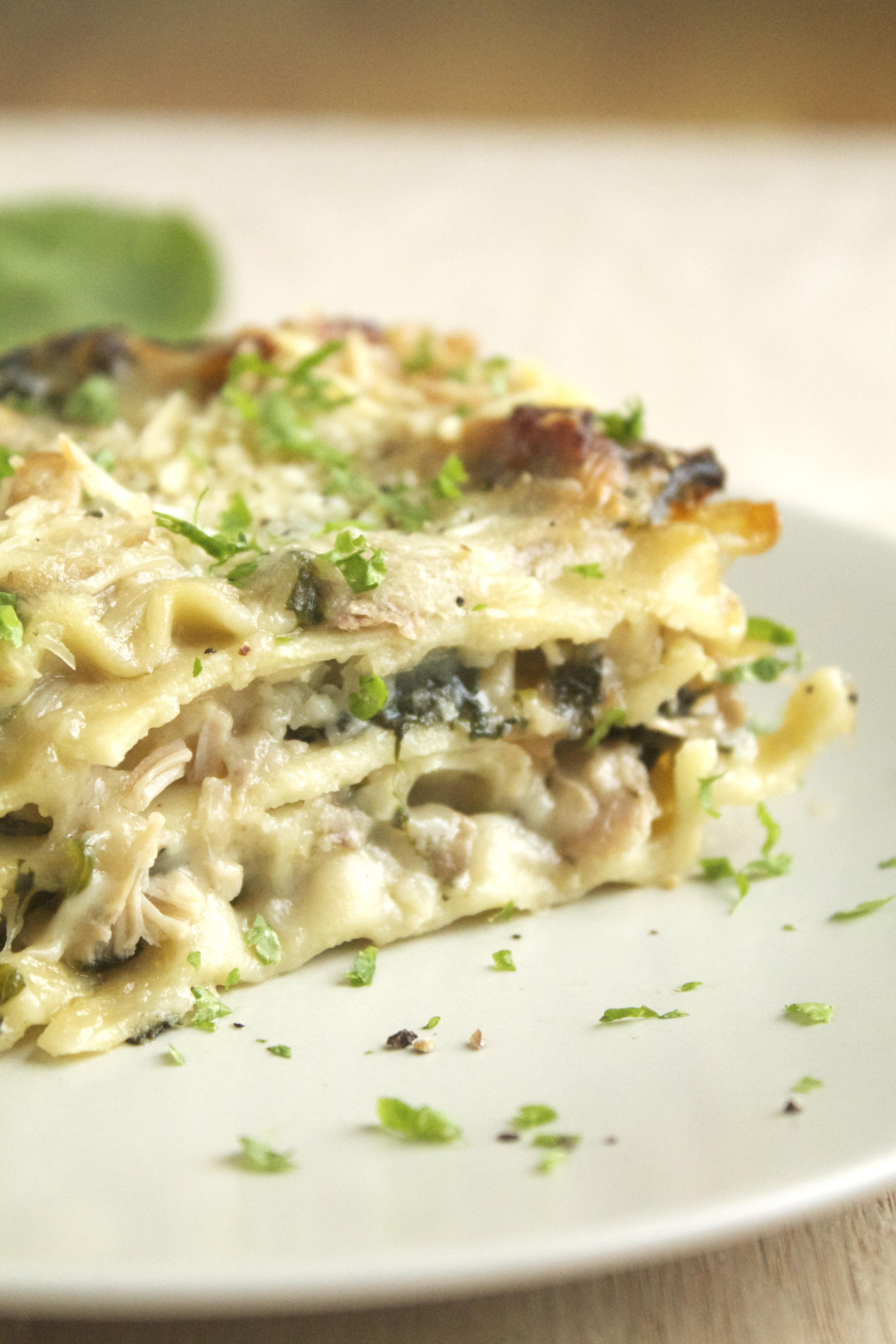 Mushroom & Spinach Lasagna - Life As A Strawberry