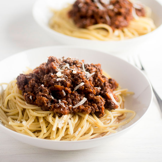 italian sausage bolognese