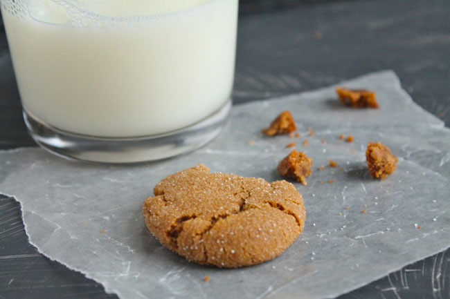 Gingersnaps | These are the BEST gingersnap cookies! Soft, chewy, and the perfect amount of spice. Vegetarian.