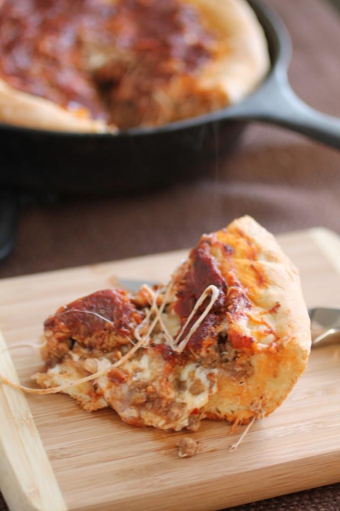Deep Dish Skillet Pizza