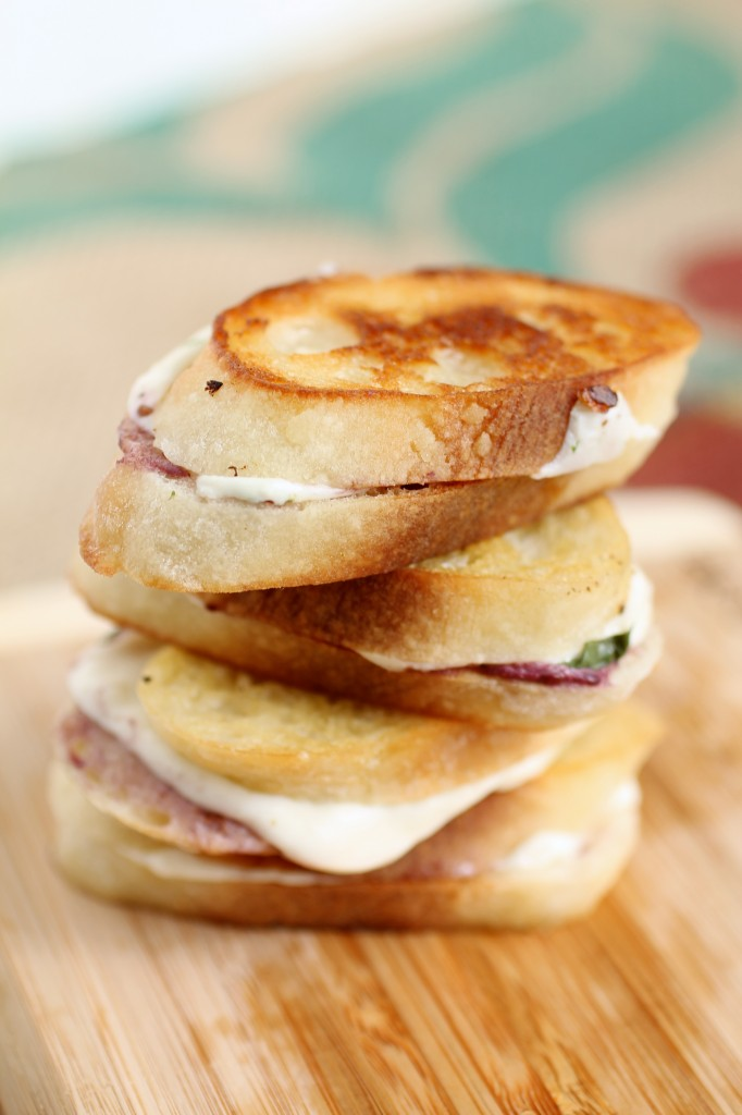 Blackberry Caprese Grilled Cheese