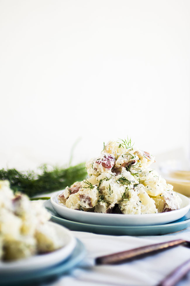 Lightened Up Potato Salad | Lighten up your favorite potato salad with this healthy recipe!