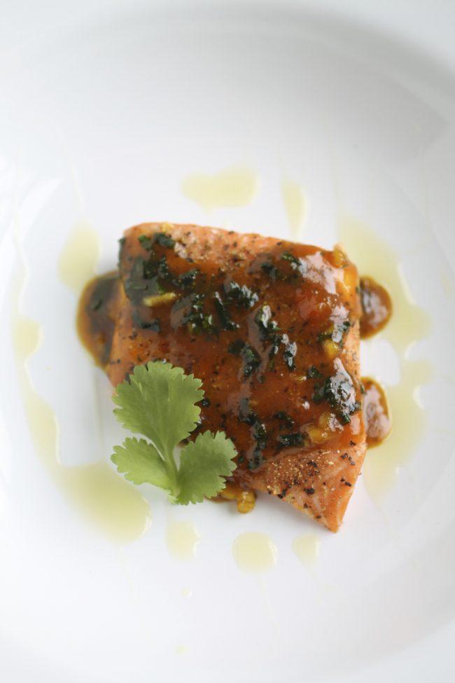 Orange Curried Cilantro Salmon