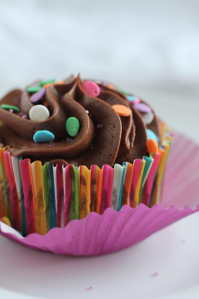 Chocolate Greek Yogurt Cupcakes