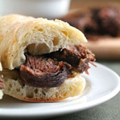 Boozy Slow Cooker French Dips