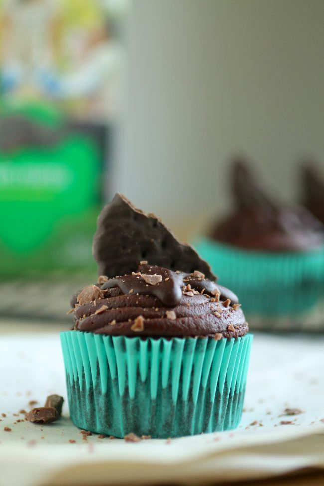 Triple Chocolate Sort-of-Healthy Mint Cupcakes