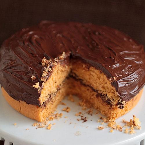 Butterscotch Cake with Chocolate Ganache