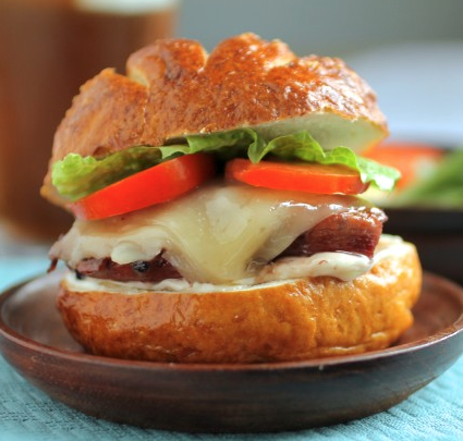 Blackberry Glazed Chicken Sandwiches