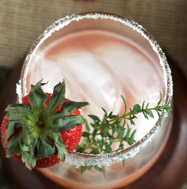 Strawberry Thyme Margaritas