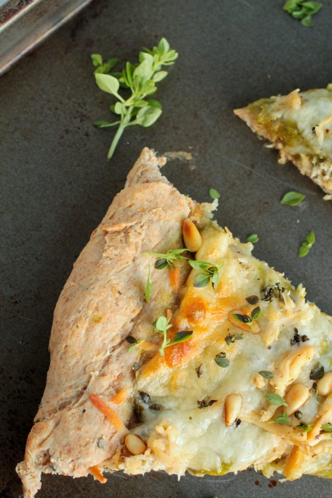 Pesto Chicken Pizza with Wheat Crust