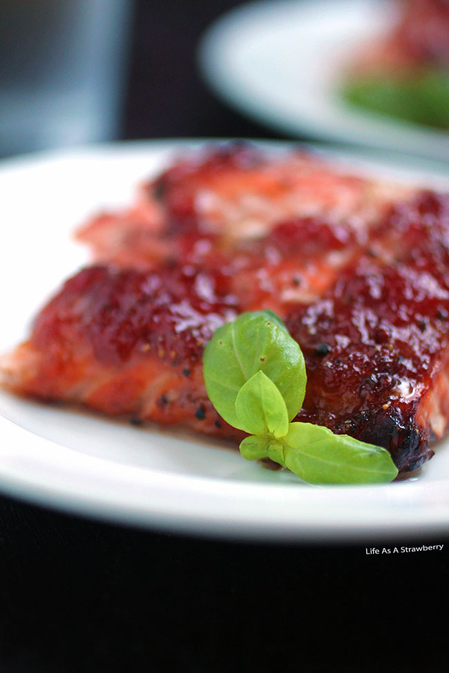 Strawberry Basil Glazed Salmon and The Sustainable Seafood Blog Project