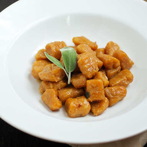Pumpkin Gnocchi with Browned Butter Sauce