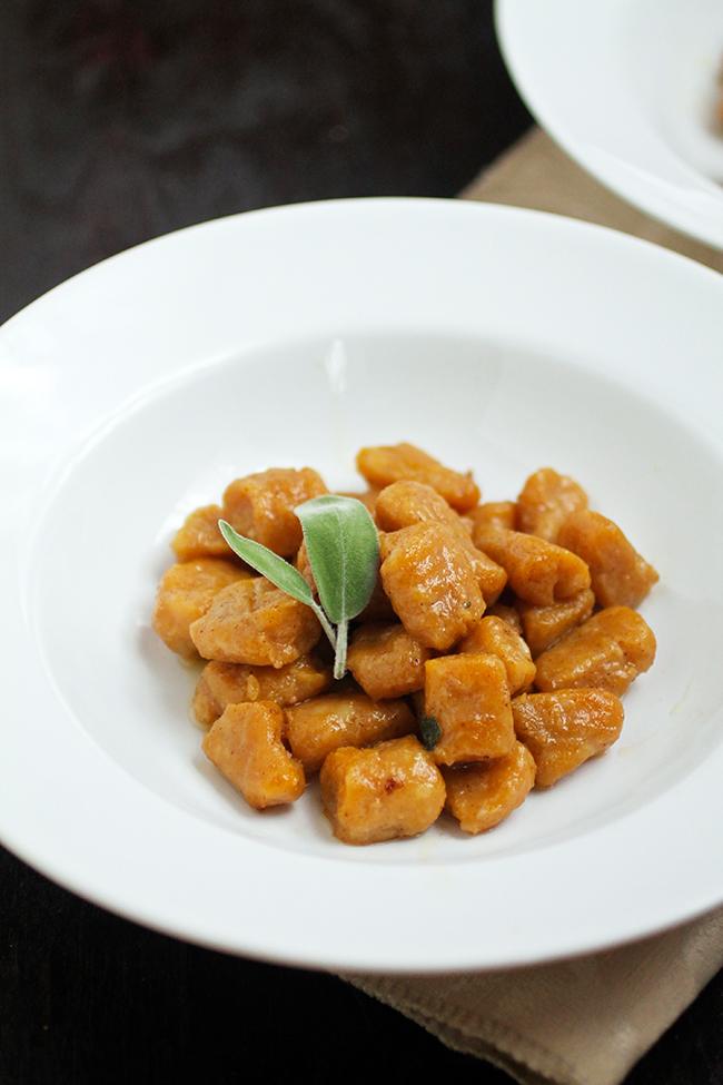 Pumpkin Gnocchi in Brown Butter Sage Sauce