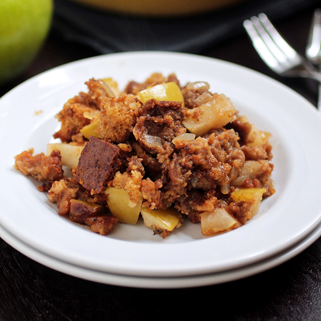 Green Apple and Sausage Stuffing