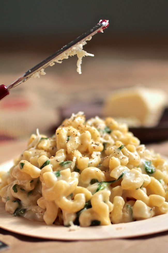 Havarti Spinach Mac and Cheese   Mix up your macaroni and cheese routine with this simple havarti mac and cheese recipe - the perfect easy weeknight meal that even the pickiest eaters will love! Vegetarian.