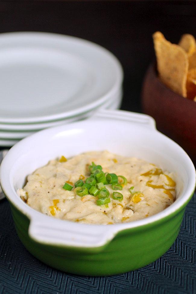 Slow Cooker Four Cheese Leek & Garlic Dip