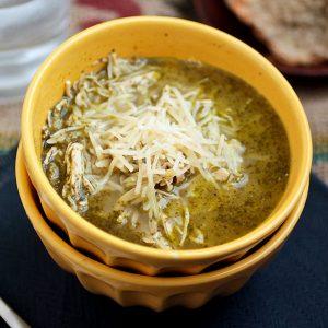 Pesto Chicken Orzo Soup