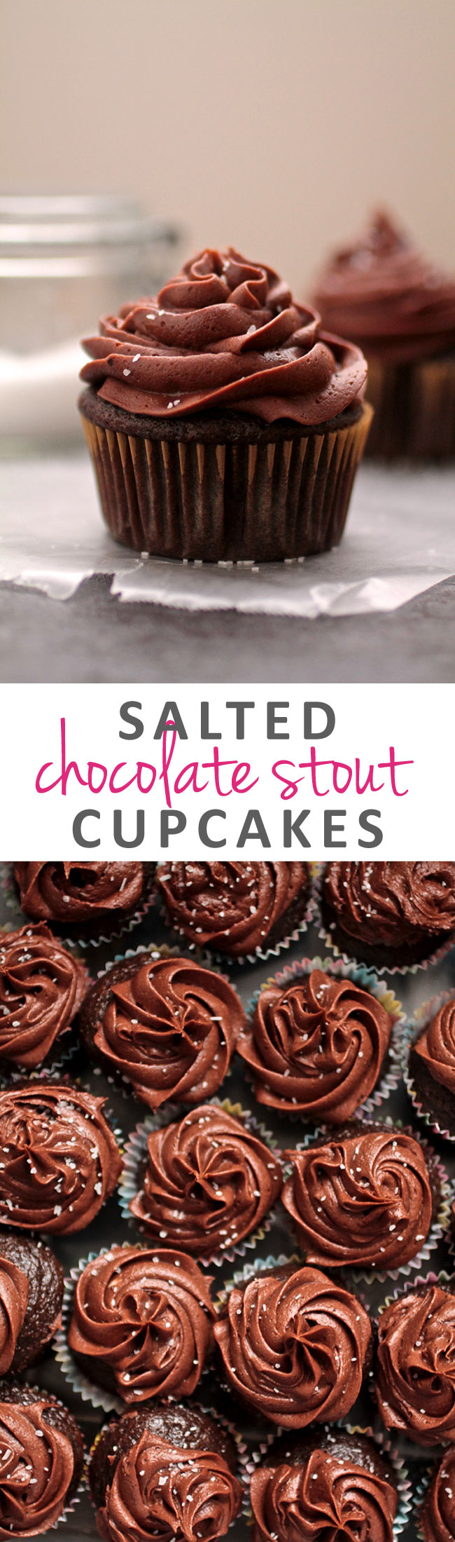 Salted Chocolate Stout Cupcakes