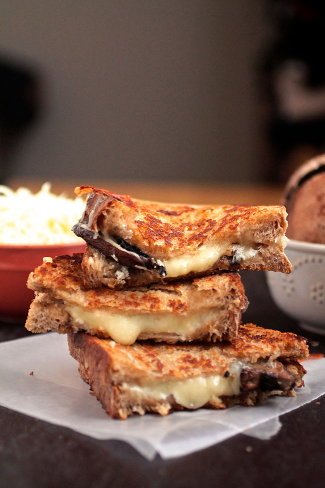 Thyme Roasted Mushroom Grilled Cheese