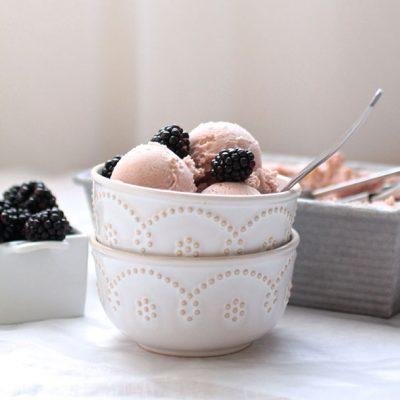 White Chocolate Blackberry Ice Cream
