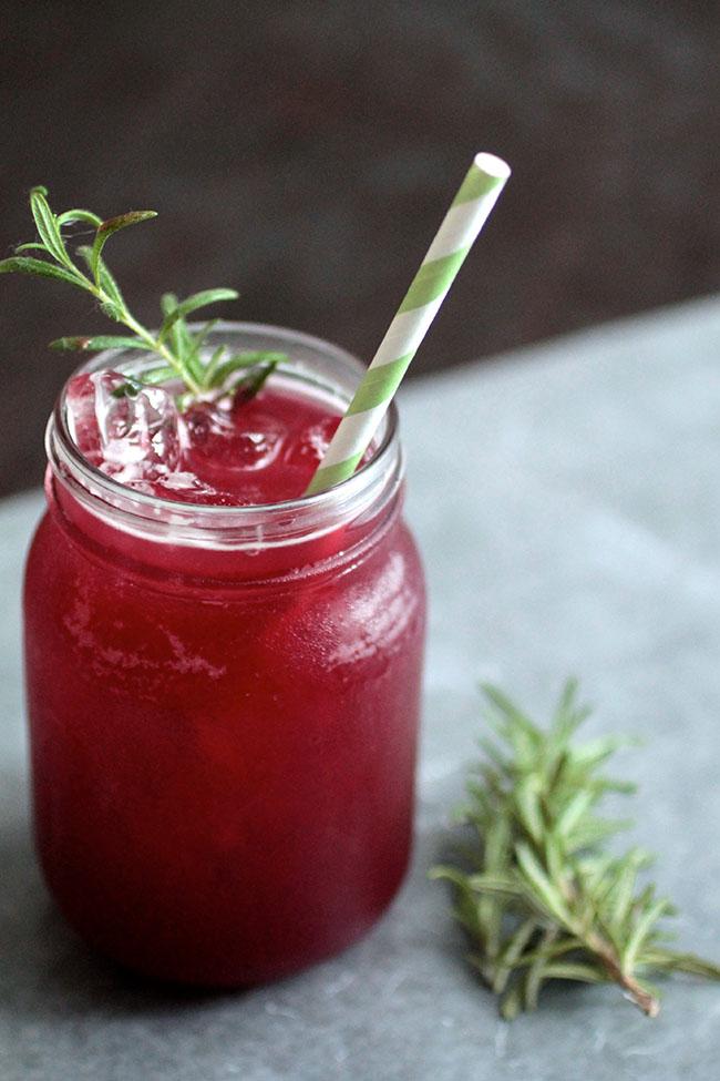 A tasty blackberry whiskey lemonade.