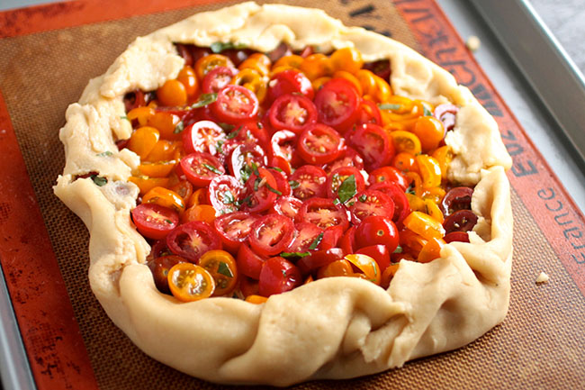 Savory tomato galette - perfect for a summer appetizer!