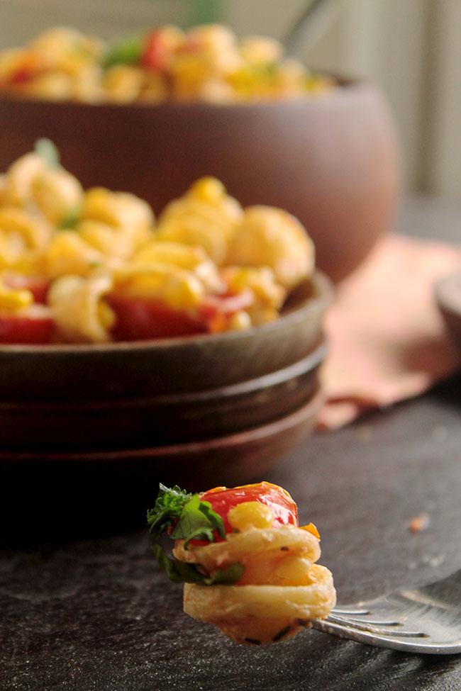 30 Minute Corn & Tomato Pasta