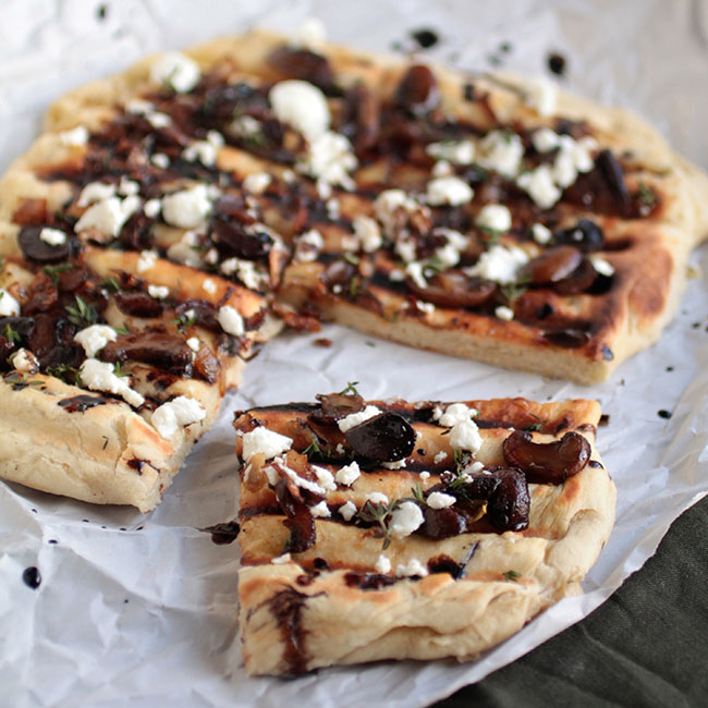 Mushroom & Goat Cheese Grilled Flatbread