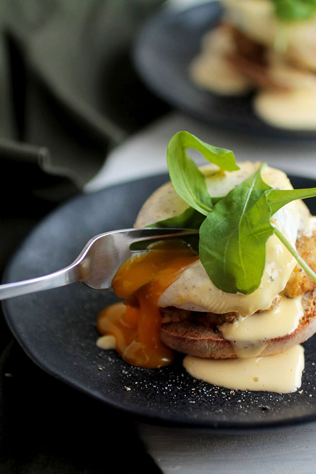 This easy crab cake eggs benedict is sure to become one of your favorite breakfast recipes!