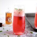 Raspberry Basil Bourbon Spritzer