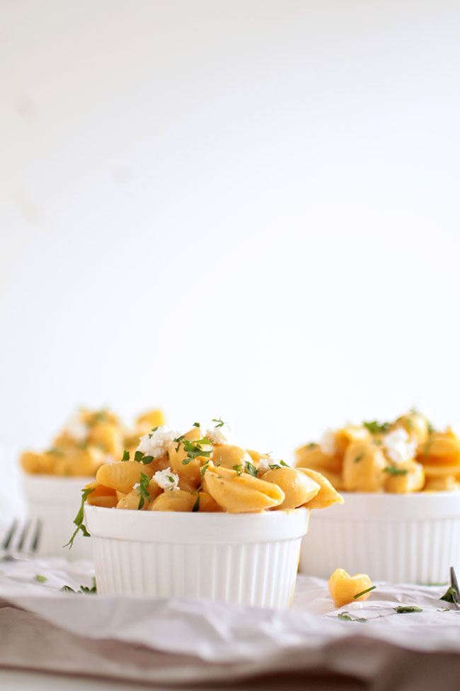 Squash Mac and Cheese with Roasted Butternut Squash