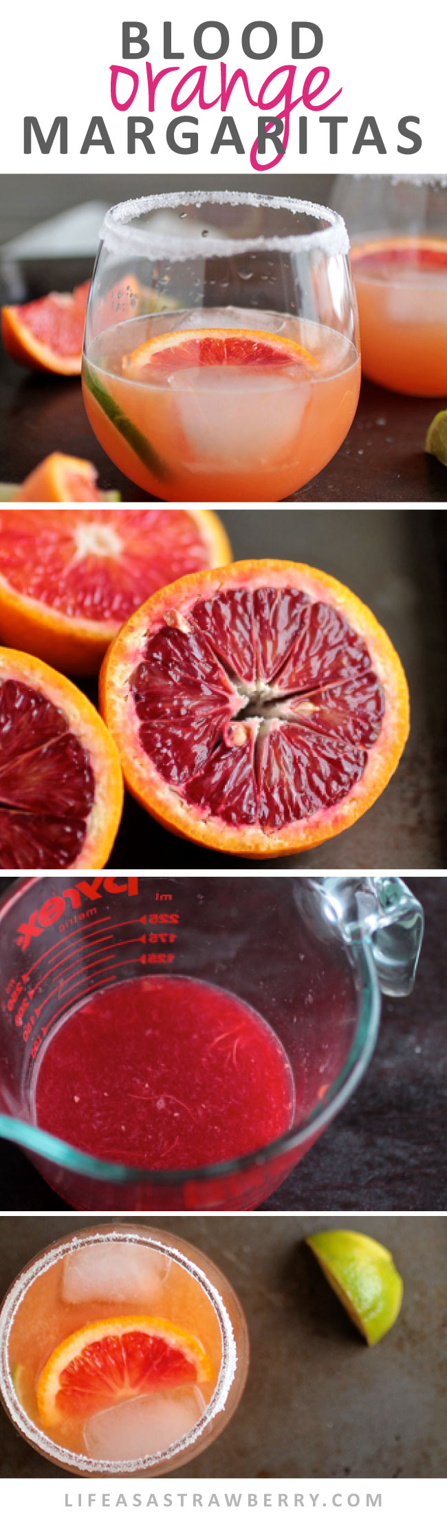 Blood Orange Margaritas | Delicious margaritas with blood orange juice and a ton of flavor. A fun and colorful tequila cocktail recipe!