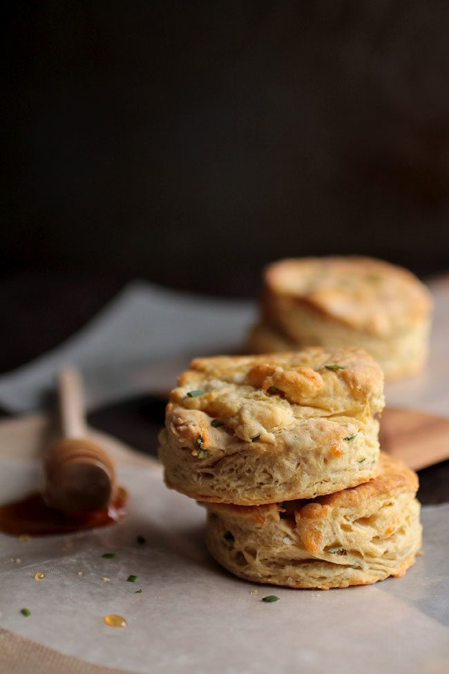 Chive and Cheddar Beer Biscuits
