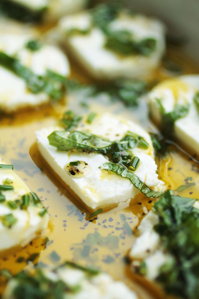 Herb Marinated Goat Cheese | Life As A Strawberry