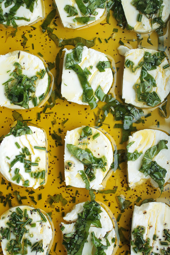 Herb Marinated Goat Cheese