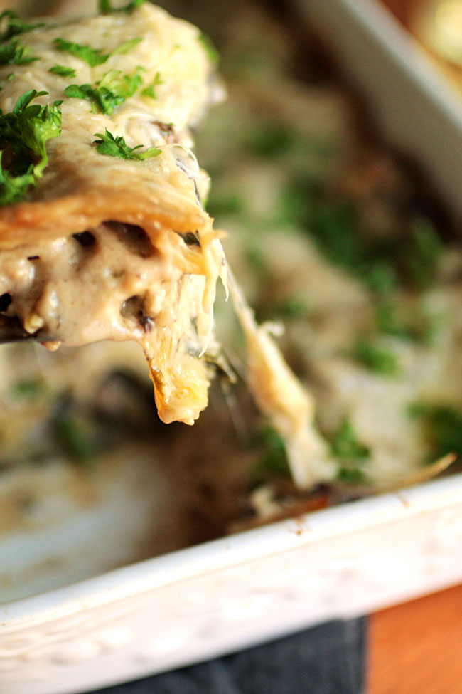 Mushroom and Spinach Lasagna Life As A Strawberry