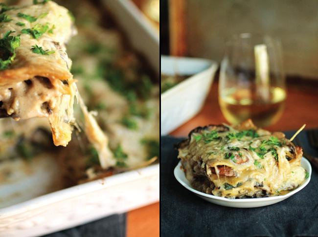 Turkey Mushroom Spinach Lasagna