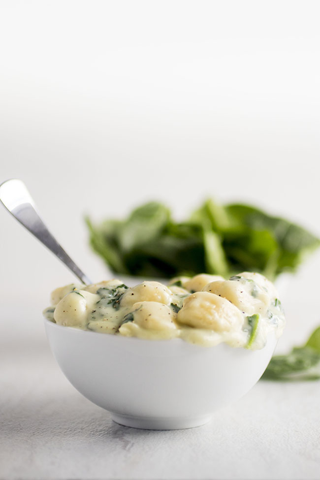 Parmesan Spinach Gnocchi | A great, quick gnocchi recipe for easy weeknight meals!