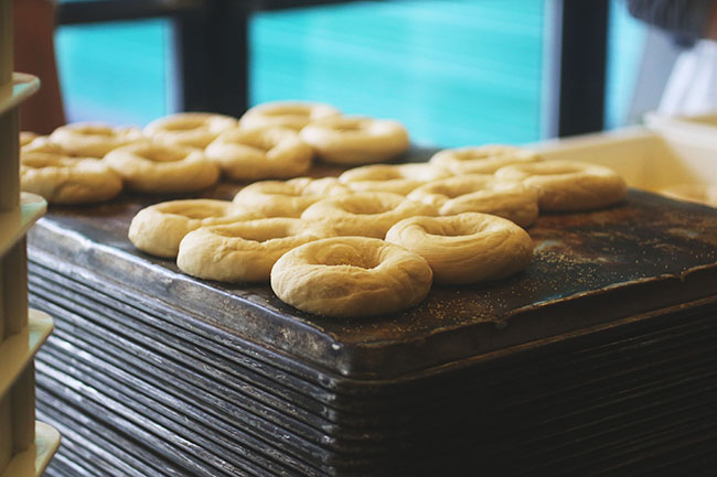 at the table // Bowery Bagels