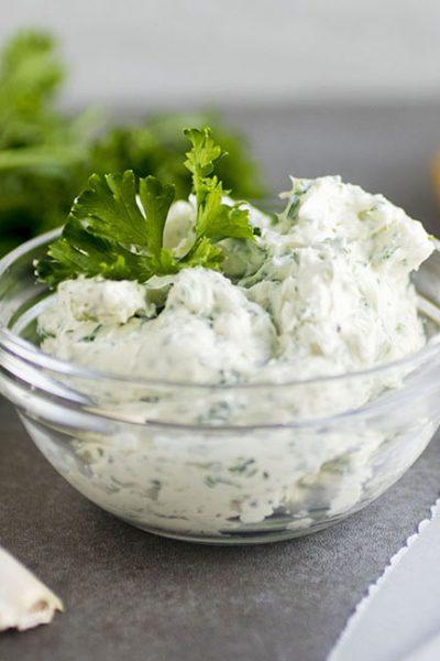 Parsley Garlic Cream Cheese