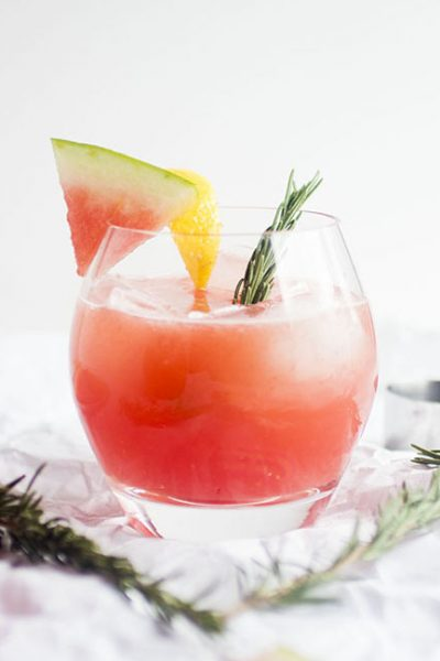 Rosemary Watermelon Cocktails