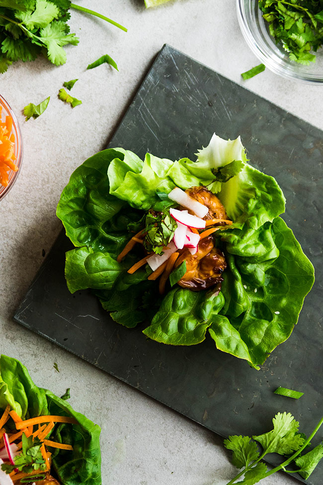 Easy hoisin glazed shrimp in a tasty lettuce wrap. A great, healthy recipe that's ready in under 30 minutes.