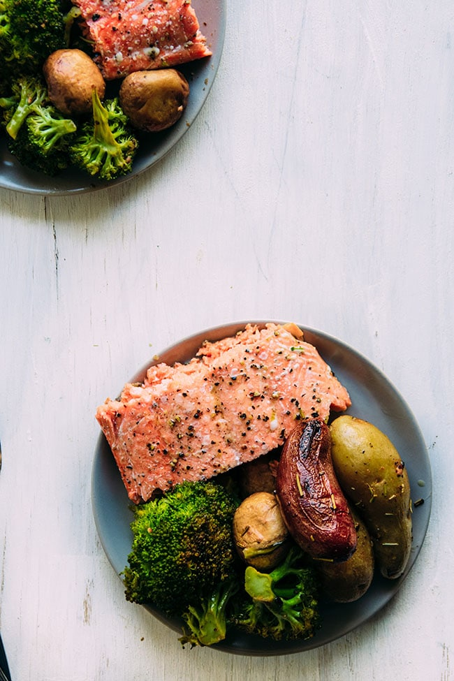 Sheet Pan Salmon With Roasted Fingerling Potatoes Life