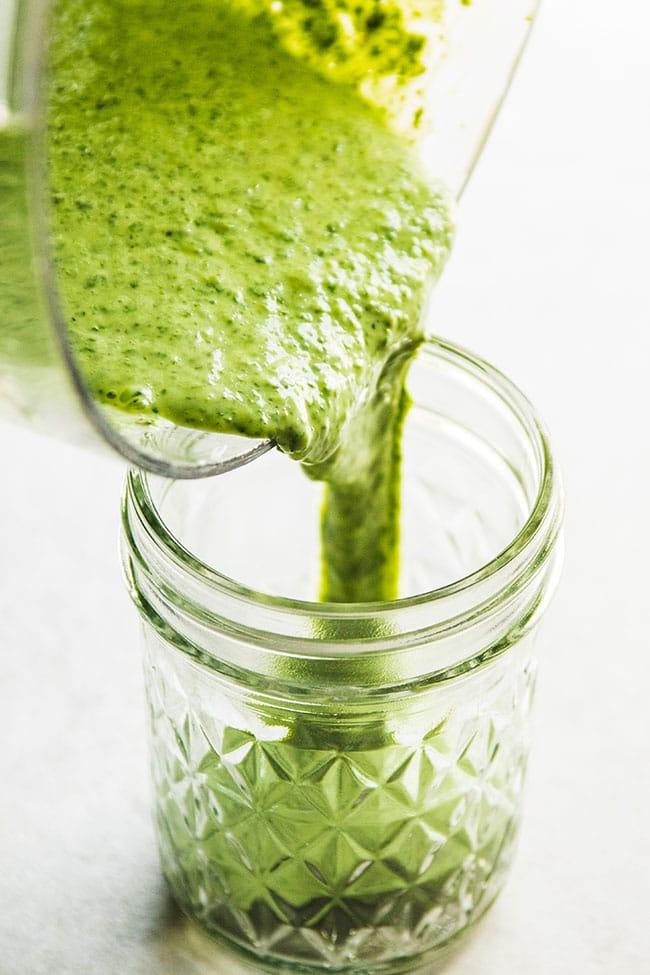 5 minute cilantro yogurt sauce - Perfect as a marinade, a sauce, or a salad dressing!